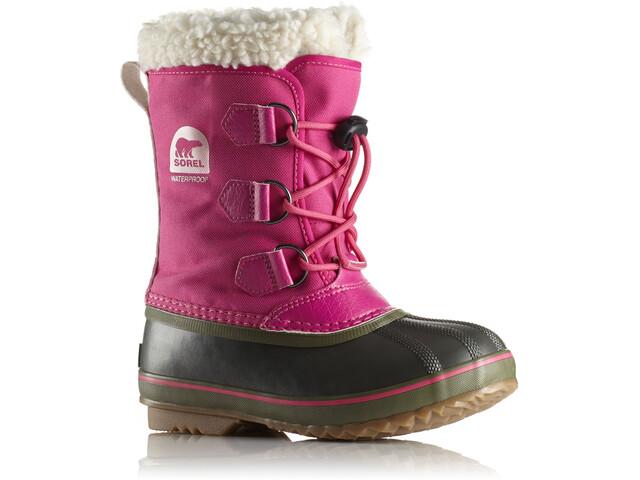 8d08f7557570 Sorel Yoot Pac Nylon Støvler Børn pink sort